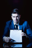 Man holding business formation agreement Royalty Free Stock Image