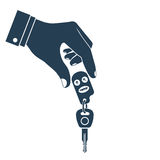 Man holding car keys Royalty Free Stock Photo