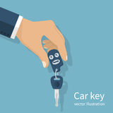 Man holding car keys Stock Images
