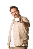 Man holding card in hand Stock Photos