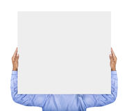 Man holding card Royalty Free Stock Photos