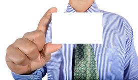 Man holding card Stock Image