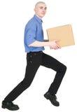 Man holding cardboard box Royalty Free Stock Image