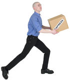Man holding cardboard box Royalty Free Stock Photo