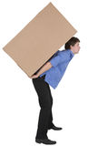 Man holding cardboard box Stock Photography