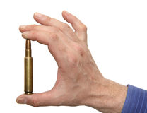 Man holding cartridge in hand Stock Image