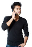 Man Holding Cell Phone Stock Photo