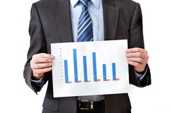 Man holding a chart Royalty Free Stock Photo