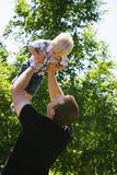 Man Holding Child Royalty Free Stock Photos