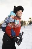 Man holding child. Royalty Free Stock Photo