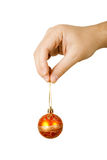 Man holding a christmas ball Stock Images