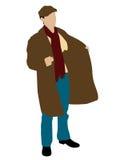 Man holding coat Stock Image