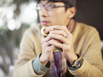 Man holding coffee cup Stock Photos