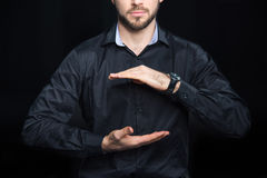 Man holding copy space Royalty Free Stock Photography