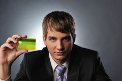 man holding credit card Royalty Free Stock Photography
