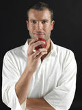 Man Holding Cricket Ball Royalty Free Stock Photos