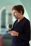 Man holding a cup Stock Photography