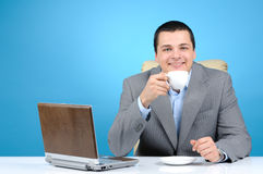 Man holding cup of coffee Stock Photo