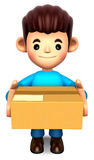 Man holding the delivery box Stock Image
