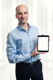 Man Holding Digital Tablet Stock Image