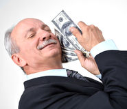 Man holding dollars Royalty Free Stock Images