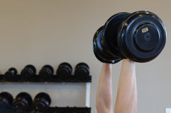 A Man Holding Dumbell For Body Weight Exercise Royalty Free Stock Photo
