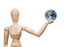 Man holding Earth Stock Photo