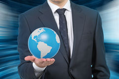 Man holding earth Royalty Free Stock Photography