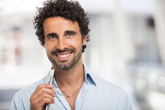 Man holding an electronic cigarette Stock Image