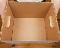 Man Holding Empty Box Royalty Free Stock Photography