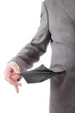 Man holding empty pocket Stock Photo