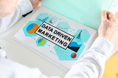 Data driven marketing concept on a paper Royalty Free Stock Photo