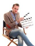 Man holding a film slate Stock Photo