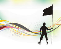 Man holding a flag Royalty Free Stock Images