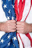 Man holding flag Royalty Free Stock Photo