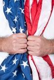 Man holding flag Royalty Free Stock Photo