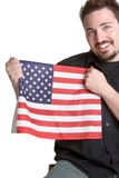 Man Holding Flag Royalty Free Stock Photos