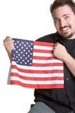 Man Holding Flag Royalty Free Stock Photos