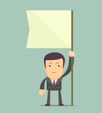 Man holding flag. Royalty Free Stock Photography