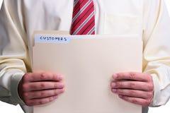 Man holding a folder Stock Photography