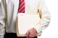 Man holding folders Royalty Free Stock Photos