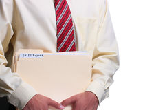 Man holding folders Royalty Free Stock Photo