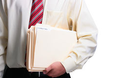 Man holding folders Stock Image