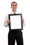 Man Holding Frame Royalty Free Stock Images