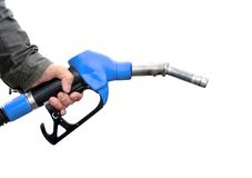 Man holding fuel pump Royalty Free Stock Photo