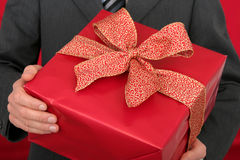 Man Holding Gift Stock Images