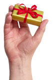 Man holding a gift box Royalty Free Stock Image