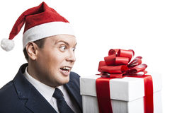 Man holding a gift box Royalty Free Stock Photography