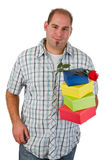Man holding gifts Royalty Free Stock Photos