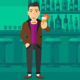 Man holding glass of juice. Stock Photo